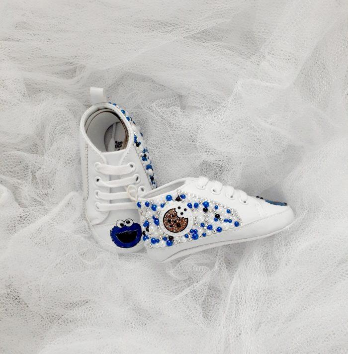 Custom Embellished Crib Shoes