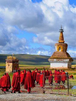 Tibetan Sky Burial Custom