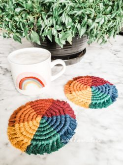 Rainbow Coasters by Sweet Home Alberti