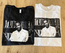 MLK Vintage style print on black or white tees. Order in time for Juneteenth