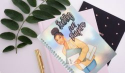 Melanated Boss Notebooks and Journals available at SewSoDef on Etsy