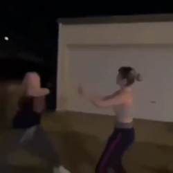 She battin a 1000…Good Lawd! The sound of the bat connecting to this chick's face!