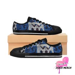 Blue Women's African print / Ankara Print Sneakers