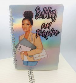 Black Girl Notebooks and Journals available at SewSoDef On Etsy
