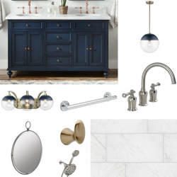 Which Blue Is You? Bathroom Concept Boards