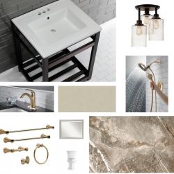 Bronze Isn't Done Yet. Bathroom Design