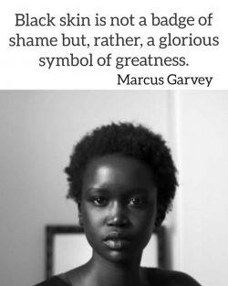 The beauty of black skin ~ Marcus Garvey