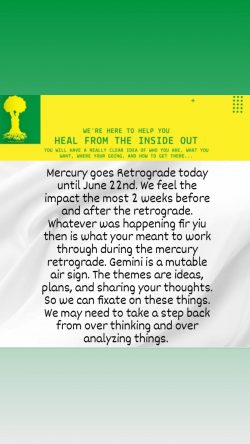 Mercury in Gemini Retrograde