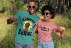 Mens Flower Power / Black Nature Lover / Black Gardening Shirt