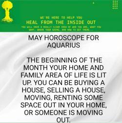 Aquarius Horoscope for may