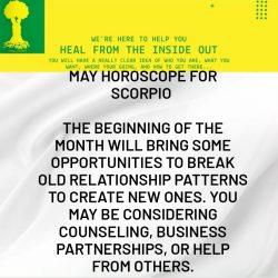 May Horoscope for Scorpio