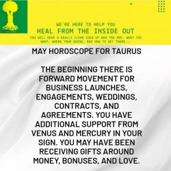 May Horoscope for Taurus