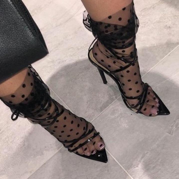 Polka Dot Shear Sock