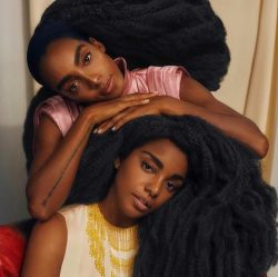 Don't dare touch our hair, but, be touched by our hair.