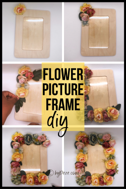 DIY Flower Picture Frame – super easy!