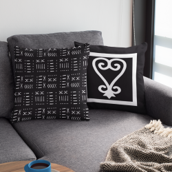 Sankofa Spun Polyester Square Pillow /African Adinkra Symbol throw pillow – Pillow cover P ...