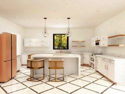 Warm White Kitchen Design