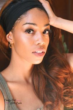 Wavy LuvMe hair headband wigs on Black Girl