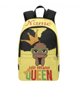 Afro Puff Girl w/glasses Melanin Queen Personalized Backpack