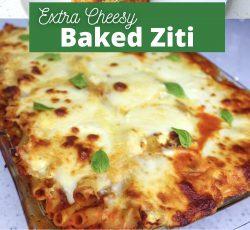 Extra Cheesy Baked Ziti