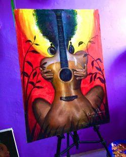 Strum Me Like a Guitar ~ by artist Onuoha Columbus