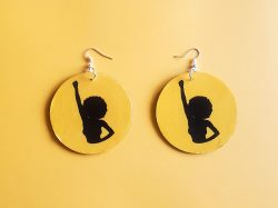 She is Power | Afrocentric Earrings | Black Pride | Afrocentric Jewelry | Melanin