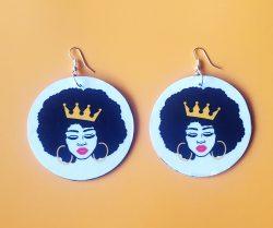 Crowned Queen | Afrocentric Earrings | Jewelry | Melanin | Queenin