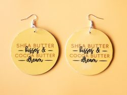 Shea and Cocoa Butter | Afrocentric Earrings | Afrocentric Jewelry | Melanin Skin