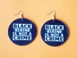 Black Skin is Not a Crime | Afrocentric Earrings | Afrocentric Jewelry | Black Pride | Black Power