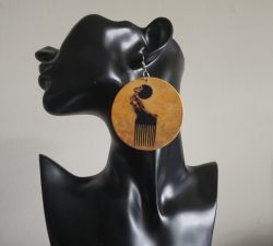 Afro Pick | Afrocentric earrings | Natural hair earrings | Pick | Curly hair | 4c hair | $5 Sale