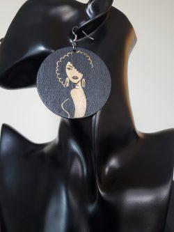Beauty of a Woman | Afrocentric earrings | Beauty | Melanin magic | Wooden earrings | $5 Sale