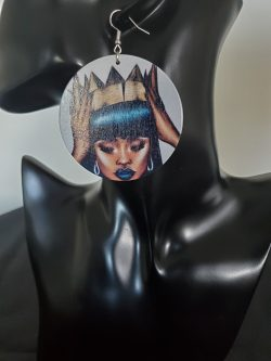 Queenin' | Afrocentric earrings | Black Girl Magic | Black Queen | $5 Sale
