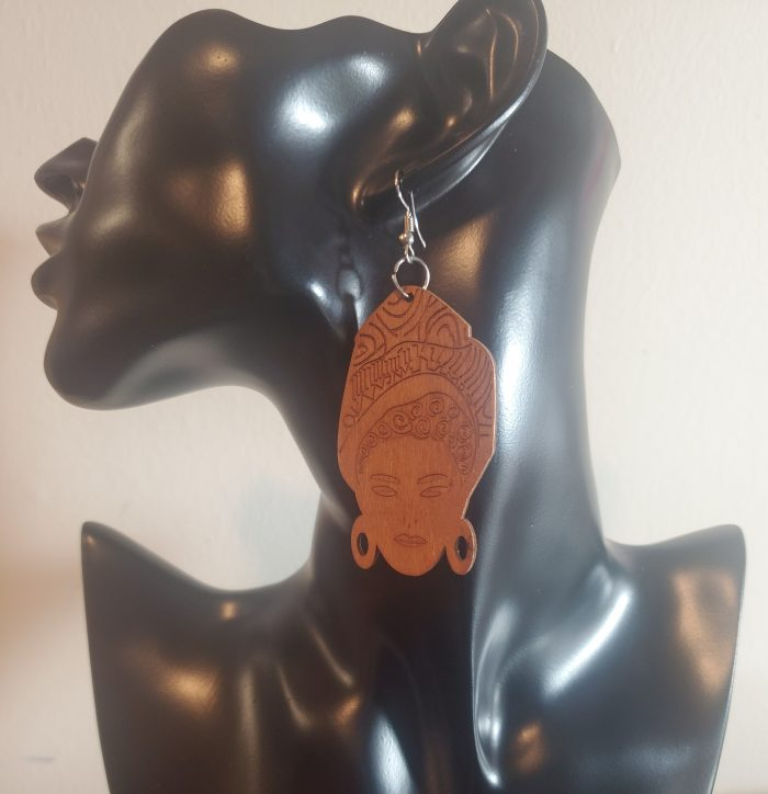 Mysterious Woman | Afrocentric Earrings | Headwrap | Jewelry | $5 Sale