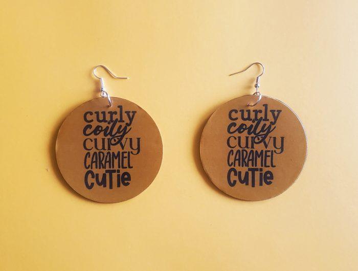 Curly, Curvy, Caramel   Afrocentric earrings   Melanin earrings   Brown Skin Girl   Black Women