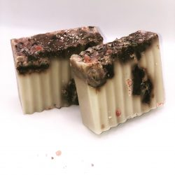 Sea Moss Soap with African Black Soap infused with Palo Santo Oil.