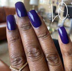 Purple Press Ons