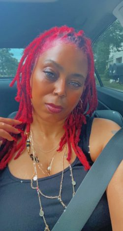 Red locs #girlswithlocs