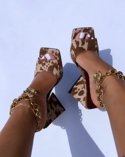 Cow Camo with anklets jewelry