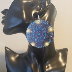 Galaxy | Afrocentric earrings | Space | Moon earrings | Star earrings | $5 Sale