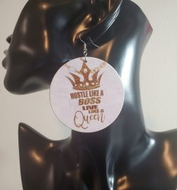 Hustle like a Boss | Afrocentric earrings | Afrocentric jewelry | Hustling | Boss Life | $3 Sale
