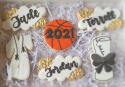 Custom Graduation Cookies #sugarcookies #royalicing #saltedvanilla