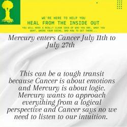 Mercury enters Cancer