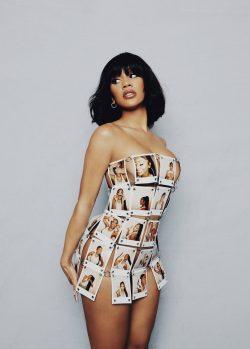 Saweetie Polaroid Dress