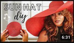 DIY Sun Hat by the lovely Lu-Ann Skaggs