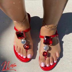 Open Toe Ruby Sandals