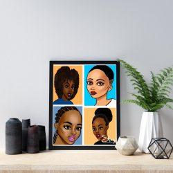 Black Art: Sis Wall Decor