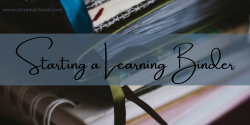 Starting a Learning Binder
