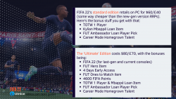 FIFA 22 pre-order details: the different editions and what they offer