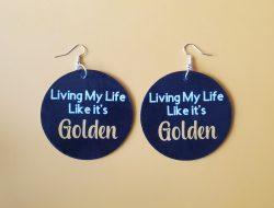 Living My Life Like its Golden | Jill Scott | Self Love | Like it's Golden | Golden Earrin ...