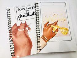 """8.5 x5.5"""" Melanin Notebook, Black Girl Notebook, Spiral Notebook, African American Woman Journal ..."""